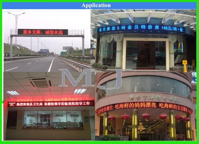 Semioutdoor LED Panel P10 DIP RED LED Modules 320*160mm 32*16 pixels P10 LED module