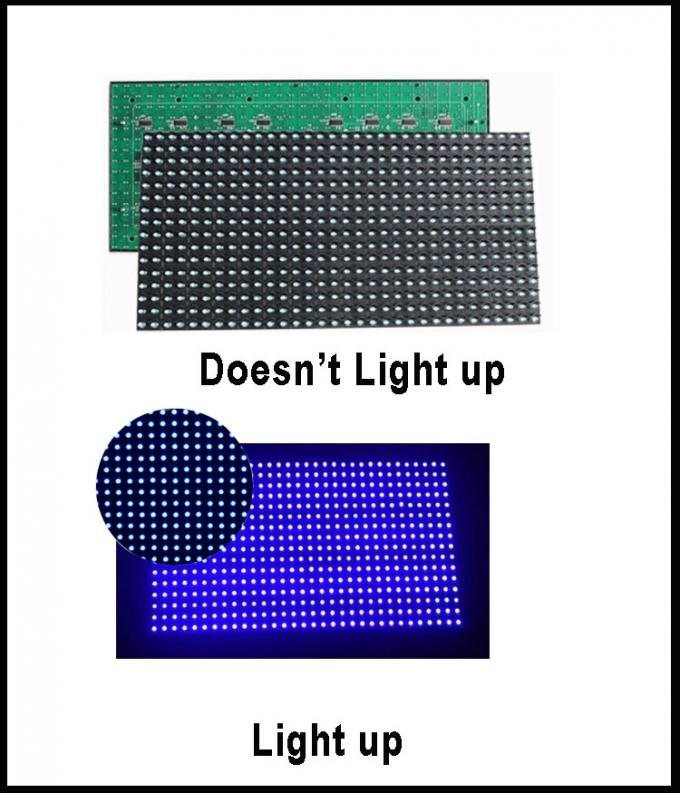 P10 led display module board semi-outdoor Single P10 blue plate light 5V 32*16pixels
