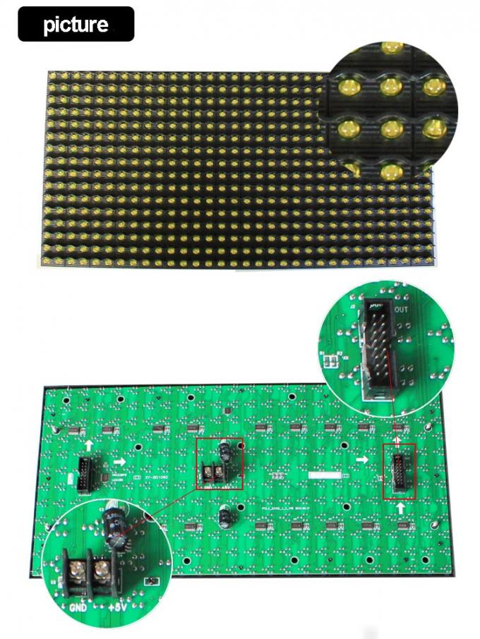 P10 led module yellow semioutdoor 16x32 hub12 led panel -p10 red green bule white pink yellow led display module