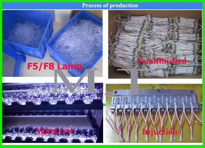 9mm Led Exposed Light String 5V Blue LED Light 50pcs/string for Shop Billboard Decoration