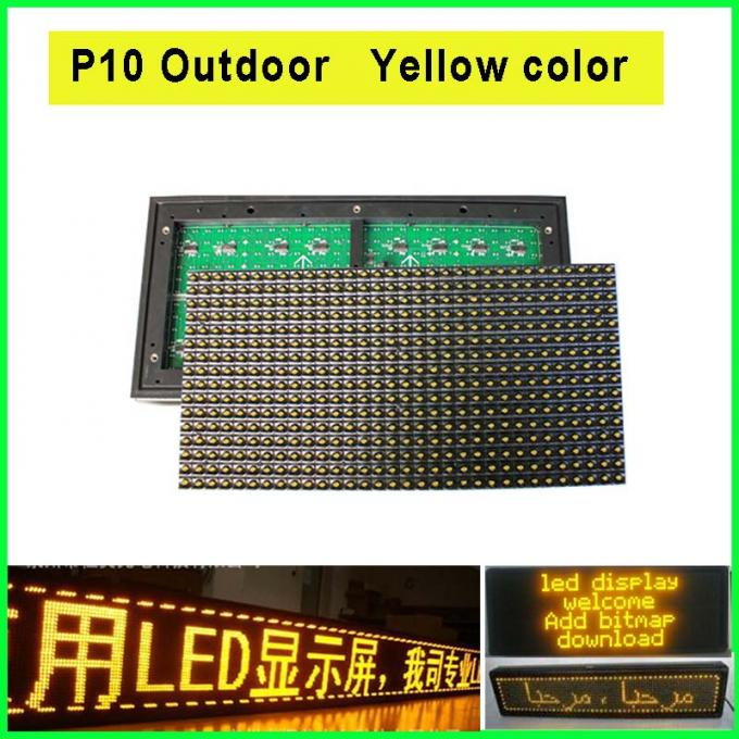 P10 billboard display module 320*160mm 5V LED modules light outdoor yellow module