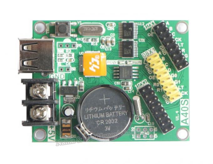 (HD-A40S) P10 led display controller for led moving signs with usb U-disk communication