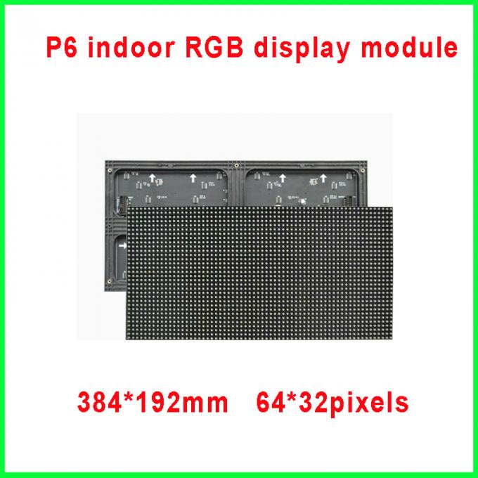 2016 384*192mm 64*32 pixels 1/16 scan 3in1 SMD RGB full color p6 led module for indoor led display screen,led video wall