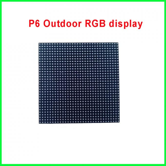 Outdoor P6 SMD5020 Full Color LED Display Module 192*192MM , High Quality P6 Outdoor SMD 3-IN-1 RGB LED Module