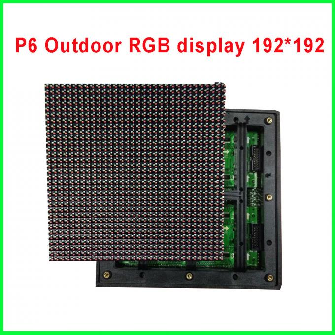 High quality 192X192mm 32X32 pixels 1/8 scan 3in1 DIP RGB full color P6 led module for outdoor led display screen