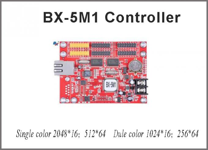 BX-5M1 led module controllers 64*512 pixel single/dual color control card LED for p10 led sign display screen message