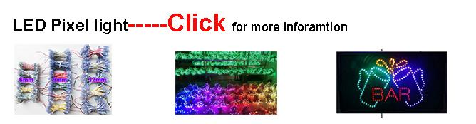 9mm red LED pixel Christmas lighting waterproof signage led ...