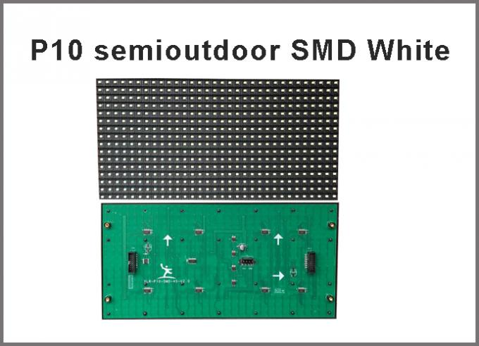 5V P10 SMD led module display Light white color 320*160  32*16pixels for semioutdoor advertising signage led dot matrix