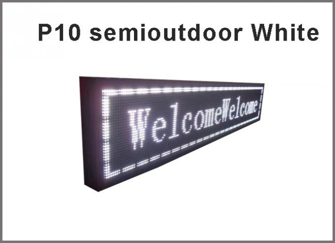 5V P10 LED module white semioutdoor usage 320*160  32*16pixels for advertising signage led display screen