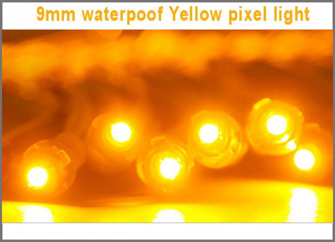 Led pixel string light 5V 9mm pixels lights yellow color 0.1W outdoor signs Christmas decoration lightings