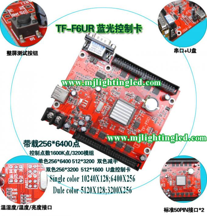 TF-F6UR USB+serial port LED Control Card 10240*128pixels support Single, Double LED moving sign controller board