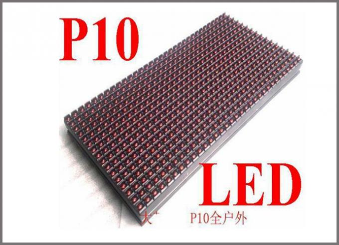 P10 LED Dot Matrix Module Programmable LED Outdoor Sign single color led display module message advertising board