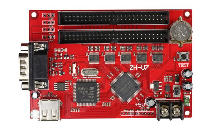 ZH-U7 led control card USB+RS232 2xpin50 for for P10 single & dule color advertising led sign display controller system