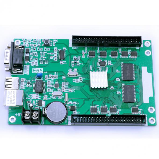 LED display controllers HD-E65 HD-E43 LAN controller for single color & dual color led display sign