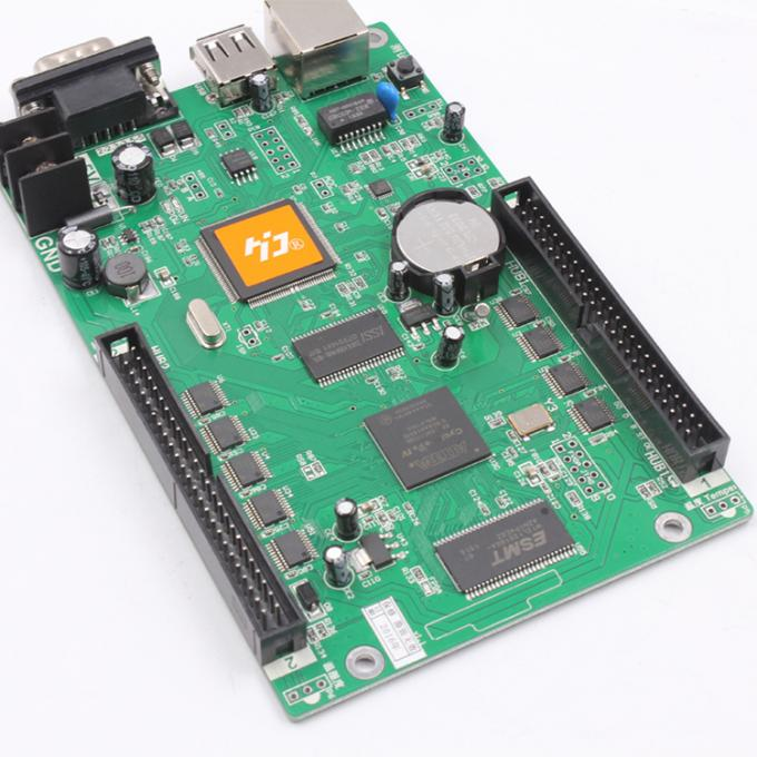 HD-E66 controller HD-E53 P10 display module programmable LAN + USB + RS232 control card for led display screen