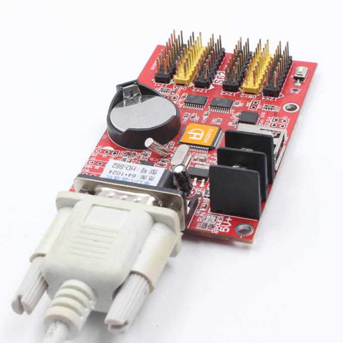 Led control card supply Huidu HD-Q41 HD-S62 LED controller card USB+SERIAL port 1024*64 pixel for p10 led screen