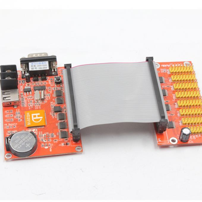 HUIDU display system HD-X41 HD-S64 1*50PIN 1024*256 LED control card for Single & Dual Color led display screen