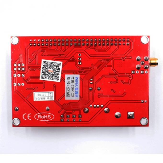 Asynchronous led control system HD-W64 HD-W42 for single/dual/full color wifi+U-disk function led sign