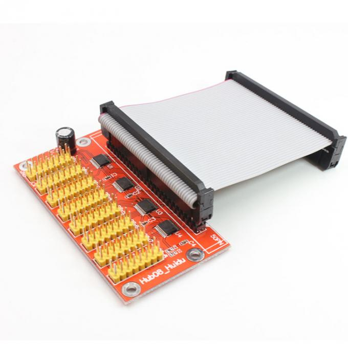 HD-HUB08 adapter card 8*HUB08 Support Single & Dual color LED display module Only support HUIDU card