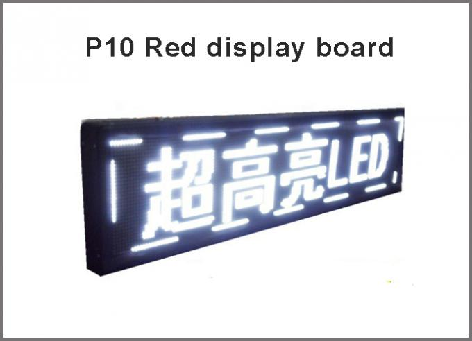 Semioutdoor/Indoor P10 LED panel display modules light red green blue yellow white display panel light message board
