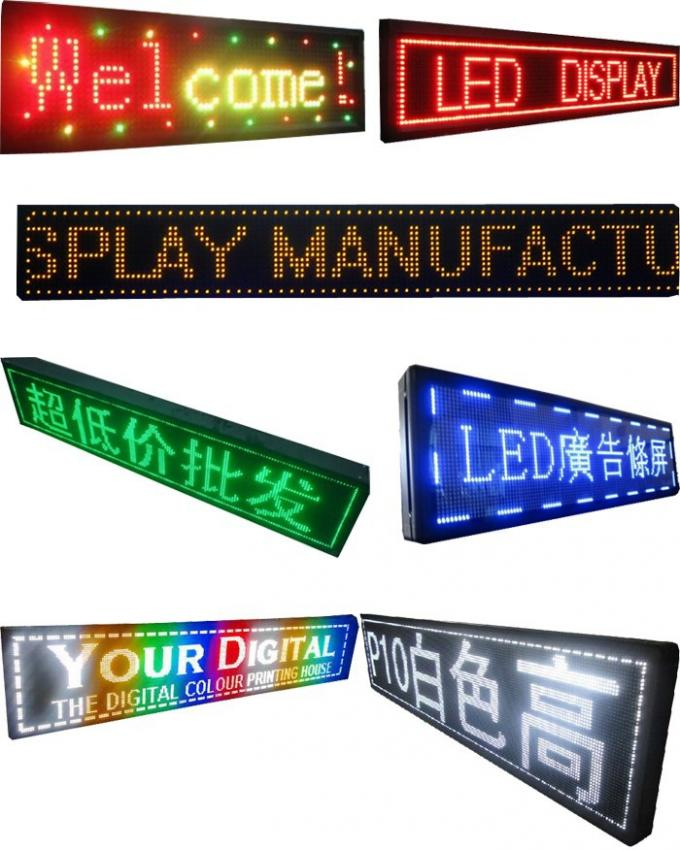 LED message board P10
