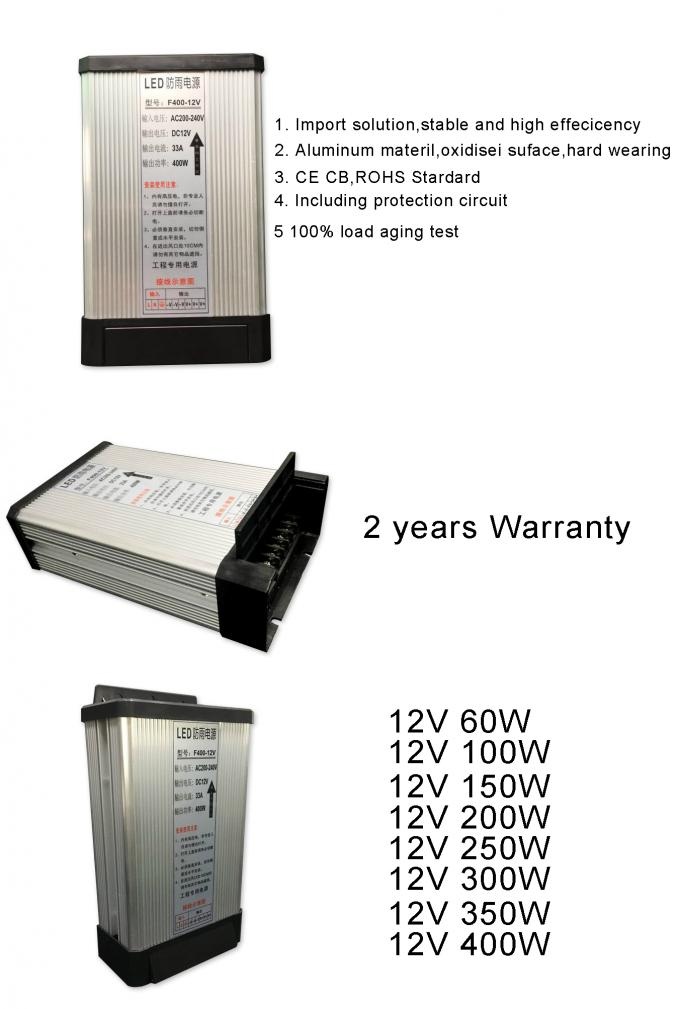 Switching power supply 12V 400W rainproof driver led outdoor signboard voltage transfomer