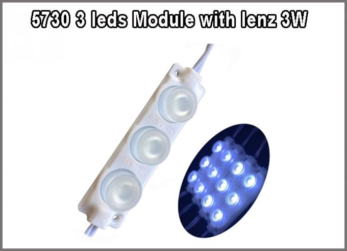 5730 3W white SMD 3 led Module 12V pixel modules with 160degree lenz for Light Box