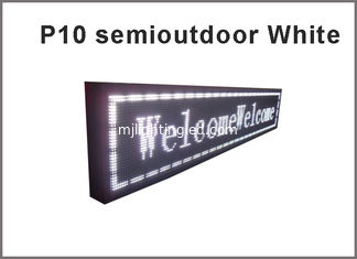 China 5V P10 LED module white semioutdoor usage 320*160  32*16pixels for advertising signage led display screen supplier