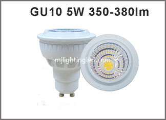 China High quality 5W CRI80 AC85-265V LED Spotlight GU10 350-380lm GU10 LED bulb dimmable available supplier