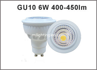 China High quality 6W  AC85-265V LED Spotlight GU10 450-450lm LED bulb GU10 dimmable/nondimmable supplier