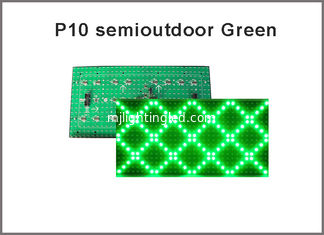 China 5V P10 led display Module Green color P10 led display module led screen module P10 320*160 semioutdoor display board supplier