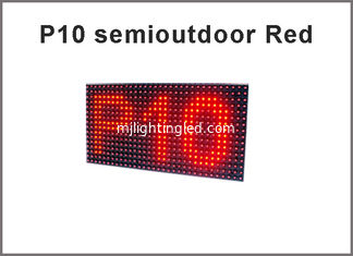 China 5V P10 module red display screen semioutdoor 320*160 advertising signage led display screen supplier