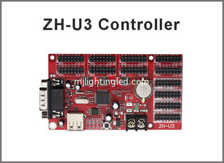 China ZH-U3 USB / U-disk + rs232 port led controller 1024*64,512*128 pixels P10,P13.33,P16,F3.75 led moving message sign board supplier