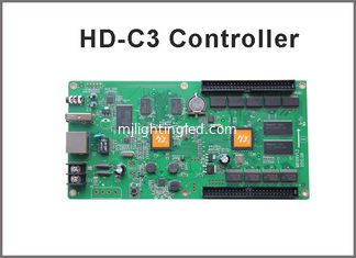 China Asynchronous RGB led display controller HD-C3 internet+usb port 384 width x 256 height with 1hub 75 board supplier