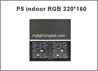 China 320*160mm 64*32pixels 1/16 Scan Indoor SMD2121 3in1 RGB full color P5 LED module for indoor LED display screen supplier