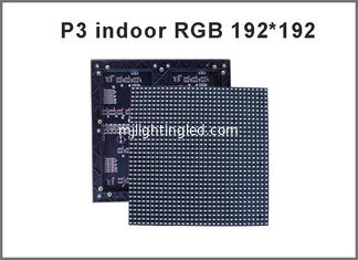 China P3 SMD Indoor rgb led module 192*192mm 64*64 pixels 1/16 Scan 3mm Full color LED display screen video led panel board supplier