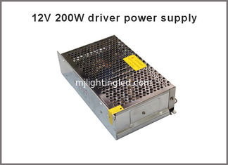 China 12VDC 200W Switching Power Supply Driver for Monitor camera/LED Strip AC 100~240V Input to DC 12V supplier