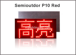 China Semioutdoor LED Panel P10 DIP RED LED Modules 320*160mm 32*16 pixels P10 LED module supplier