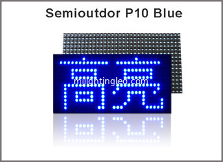 China 320*160mm 32*16pixels Semioutdoor high brightness Blue P10 LED module,Single color LED display Scrolling message supplier