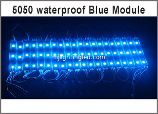 China 12V LED Module Blue 3leds clear lens Injection Molding injection advertising modules backlight led supplier