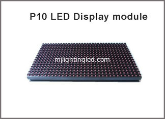 China Semioutdoor PH10 RED LED Module Board Matrix Sign DIY Display Module Bord 32x16 Pixel 1 or 2 lines messages adjustable supplier