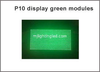 China Green LED Display Module Panel Window Sign Shop Sign P10 32X16 Matrix Programmable P10 Dot Matrix Module green sign supplier