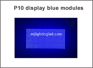 China Wholesale new led display module board P10 semi-outdoor single $ Single P10 blue plate light supplier
