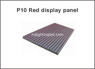 China 320*160mm P10 red led display panel advertise screen board sign scrolling semi-outdoor led module 32*16 pixel dot matrix supplier