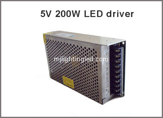 China 200W led display driver 5V 40A lighting transformer led pixel adapter supplier