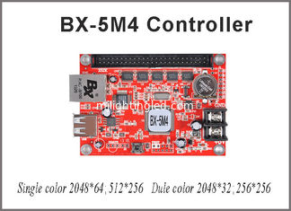 China 256*512 pixel led controller card BX-5M4 controller single/dual color control card p10 led module for led running sign supplier