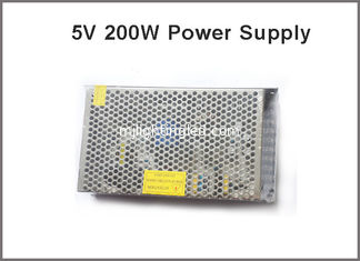 China Led display driver 5V 40A 200W lighting transformers led pixel adapter supplier