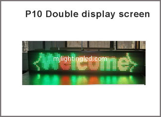 China Outdoor P10 Double Color 1R1G LED Module programmable display Red Green Yellow shows Scrolling Message Text LED Sign supplier