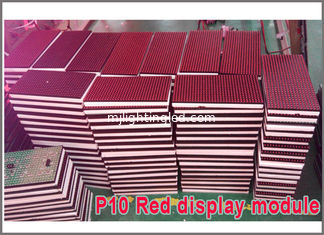 China 32*16 pixel LED module P10 Semioutdoor single red 320*160mm led display module led running text led sign supplier
