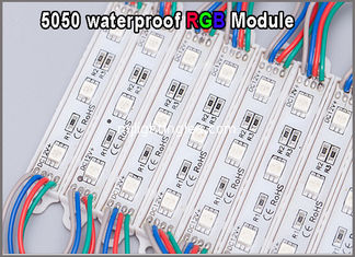 China High quality 5050 RGB LED Module 12V waterproof RGB modules lighting for advertisment signage supplier